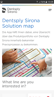 Dentsply Sirona Solution Map- screenshot thumbnail
