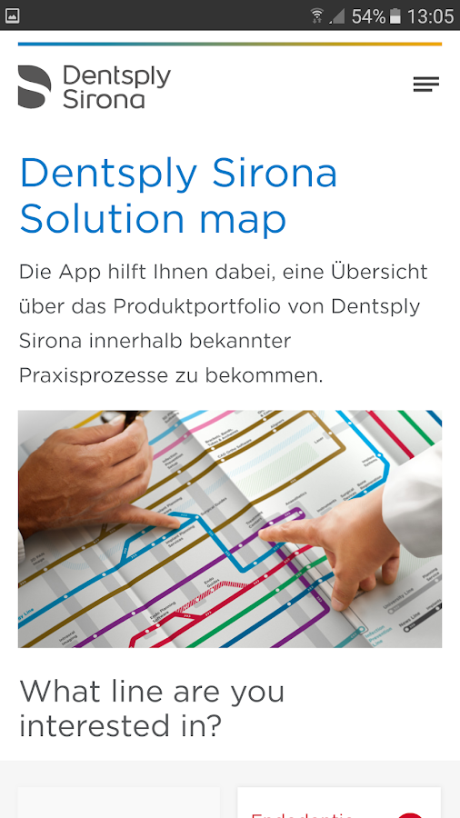 Dentsply Sirona Solution Map- screenshot
