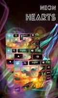 Screenshot of Neon Hearts Keyboard