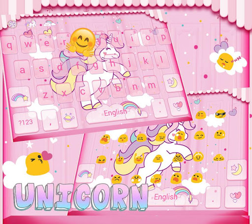 Rainbow Unicorn Keyboard theme for PC
