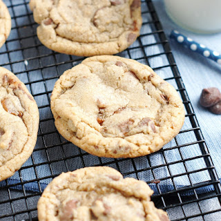 Browned Butter Chocolate Chip Toffee Cookies