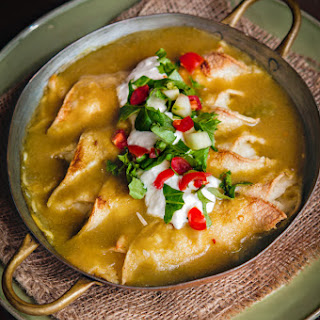 Potato Enchiladas with Ranchero Sauce