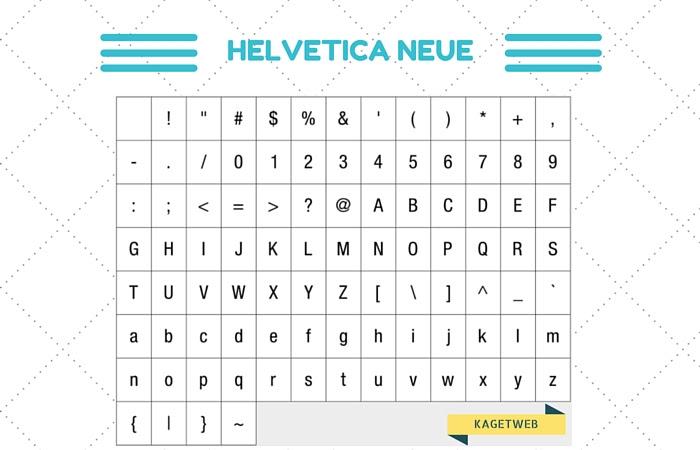 contoh font sans serif