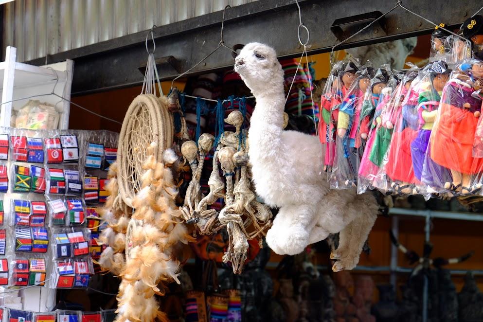 Płody lam w La Paz
