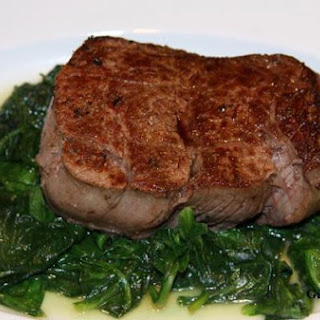 Fillet Mignon with Butter Sauteed Spinach