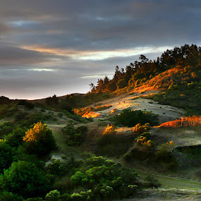 Sunrise on Round Top by Gary Pope - Landscapes Mountains & Hills