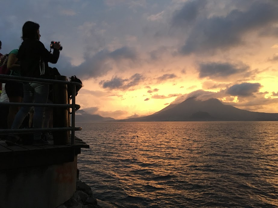My introduction to Lake Atitlan from Panajachel dock.