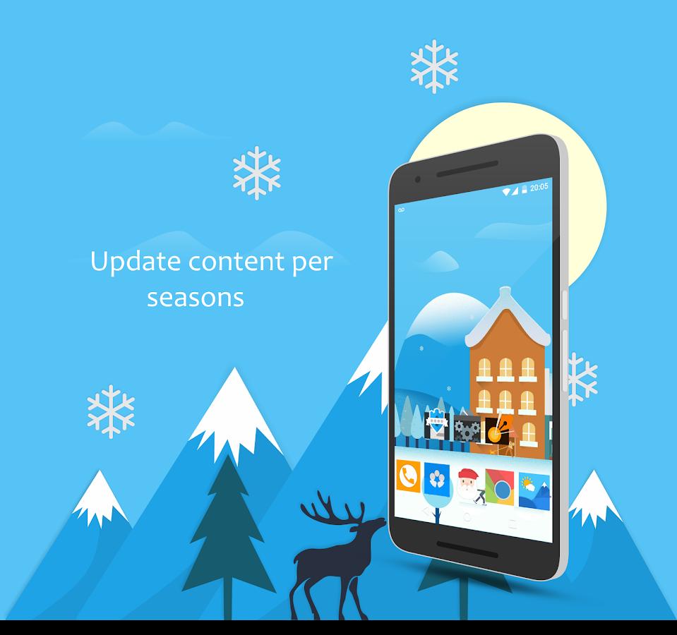 Seasons UI- tangkapan layar