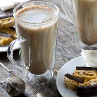 Maple Cinnamon Chamomile Tea Latte (Vegan).