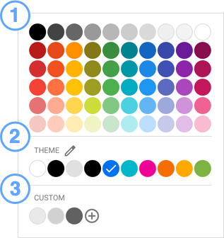The color picker.
