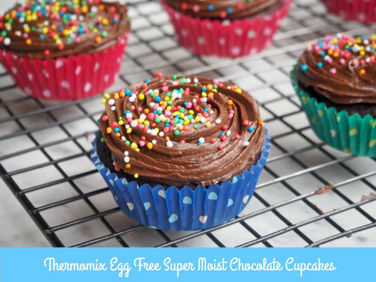Thermomix Egg Free Super Moist Chocolate Cupcakes