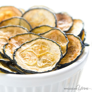 3-Ingredient Truffle Salt Zucchini Chips (Paleo, Low Carb)