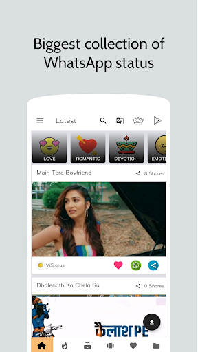 ViStatus - videos for whatsapp 1.4 screenshots 1