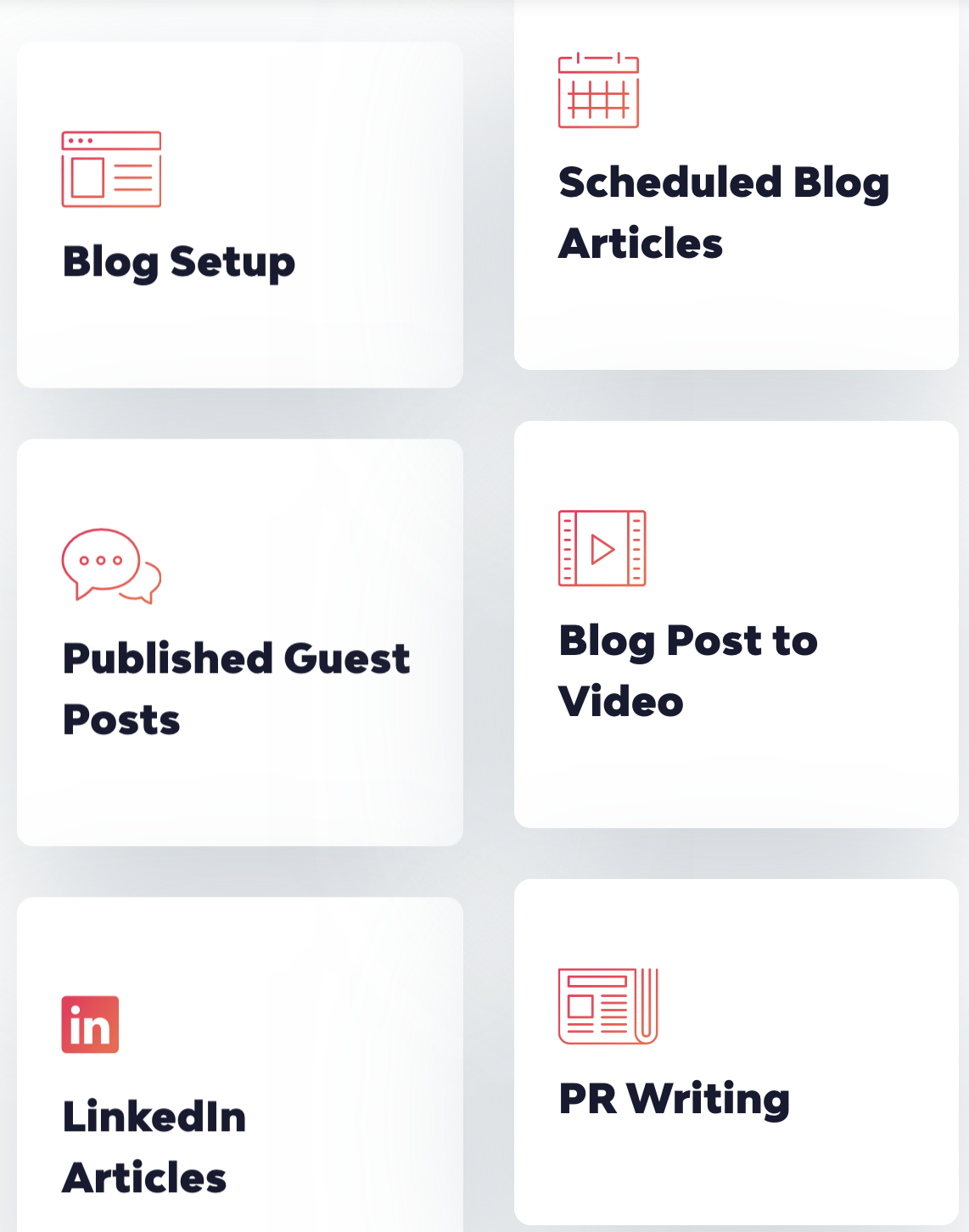 Radcrafters blog setup services, article writing. scheduled blogs, guest posting, LinkedIn, PR writing.