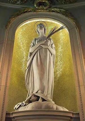 Santhià - S Agata - statua