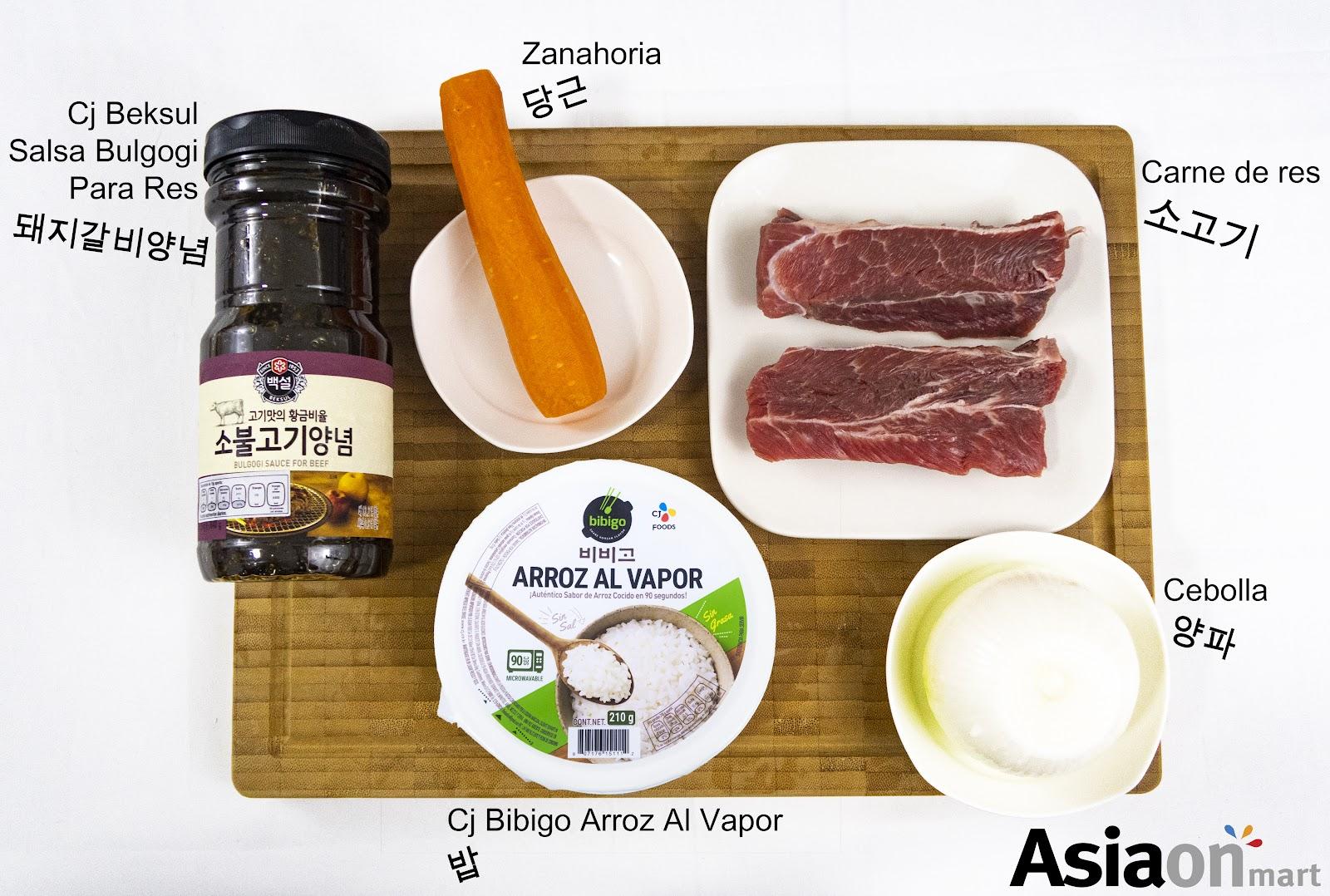 Ingredientes para Bulgogi