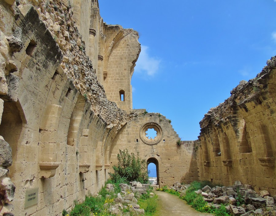 RUIN OF MONASTERY  by Wojtylak Maria - Buildings & Architecture Public & Historical ( old, monastery, ruins, cyprus, abbey )