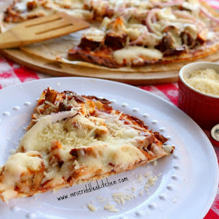 BBQ Chicken Pizza THM S, LOW CARB