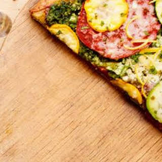 Zucchini-Pesto Pizza.