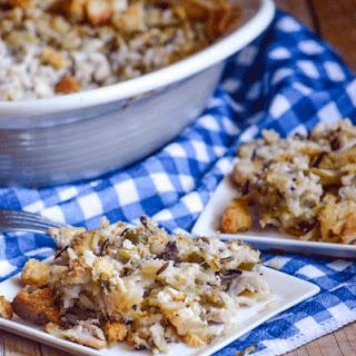 Creamy Chicken Caesar & Wild Rice Casserole.