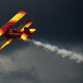 A Bi-Plane Showman by Larry Bidwell - Transportation Airplanes