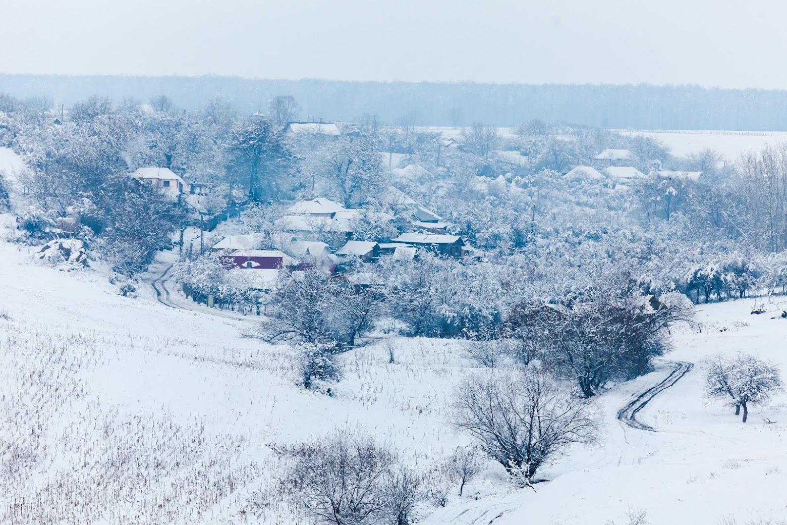 Iarnă în Oltenia profundă
