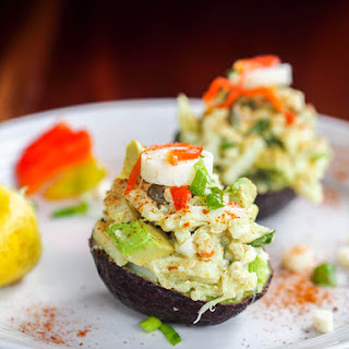 Vegan Avocado Boats with Quinoa Hearts of Palm Salad {GF}