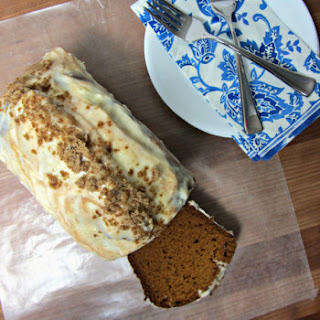 Brown Sugar Cinnamon Pumpkin Bread w/ Cream Cheese Frosting
