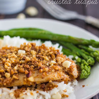 Chili Macadamia Crusted Tilapia.