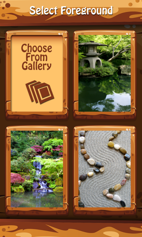 Zen Garden Zipper Lock Screen- screenshot