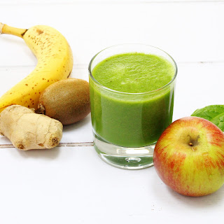 Fruity Green Ginger Smoothie.