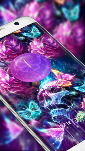 neon skull butterfly theme  screenshots 2