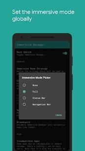 Immersive Mode Manager Screenshot
