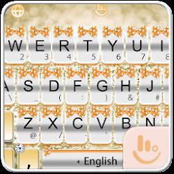 Orange Silver Bow Keyboard Theme
