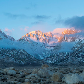 Eastern SIerra Sunrise by Evver Gonzalez - Landscapes Mountains & Hills ( alabama hills, mountains, sierra nevada, mountain, sunrises, lone pine, california, inyo, sunrise )