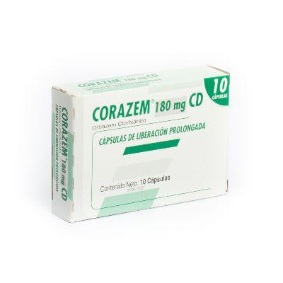 Diltiazem Clorhidrato Corazem CD 180 mg x 10 Cápsulas
