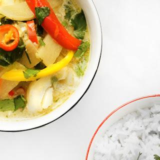 Gluten-Free Thai Fish Curry with Jasmine Rice.