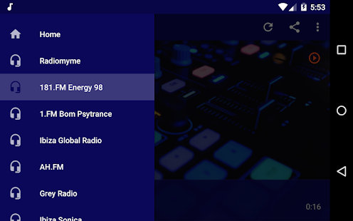 Live Electro Radio Screenshot