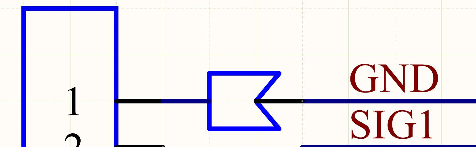 Abbildung 5.  So platziert man ein Crimpbauteil im Schaltplan