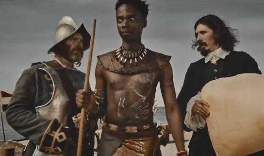 A screenshot from Chicken Licken's banned commercial about the adventures of Mjohnana.