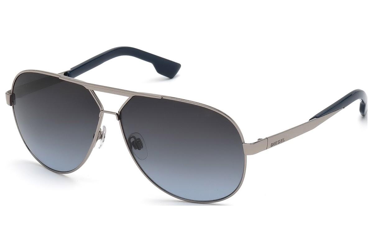 fe8225c6235 Buy Diesel DL0078 C61 14W (shiny light ruthenium   gradient blue) Sunglasses