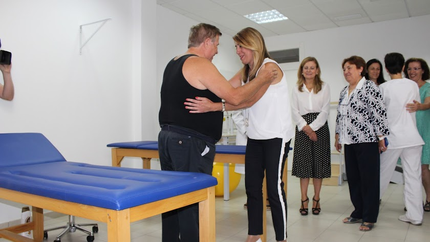 Susana Díaz visita el centro de salud de Garrucha, recientemente ampliado