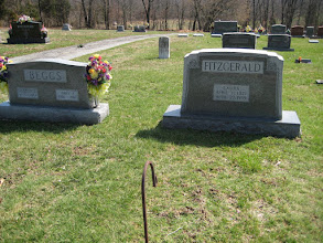 Photo: Laura Fitzgerald was a sister of Parlee Webb Henson and mother of Mary Beggs, whose stone is at the left. Laura and her husband lived in Tunnel Hill, and he worked for the railroad.