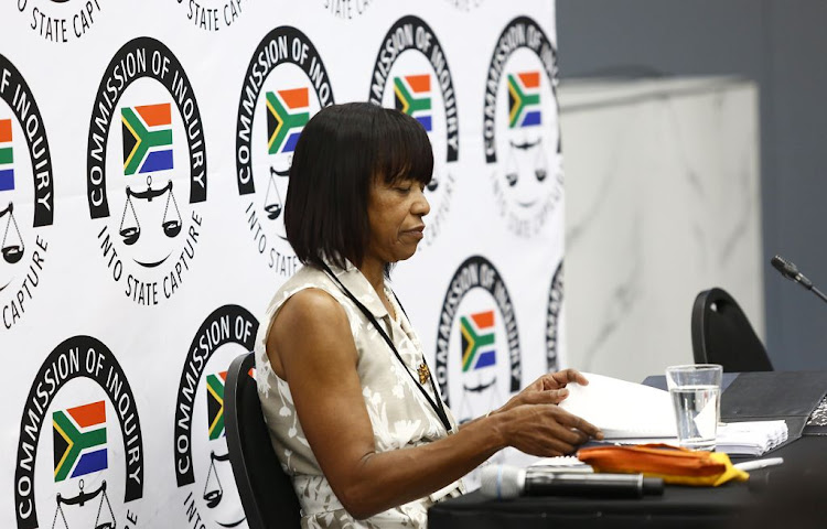Former SAA chairperson Cheryl Carolus at the state capture inquiry in Parktown, Johannesburg, on November 29 2018.