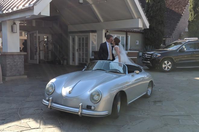 1957 Porsche 356 Speedster - Silver/Black Hire California