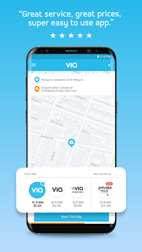 Via - Affordable Ride-sharing  screenshots 1
