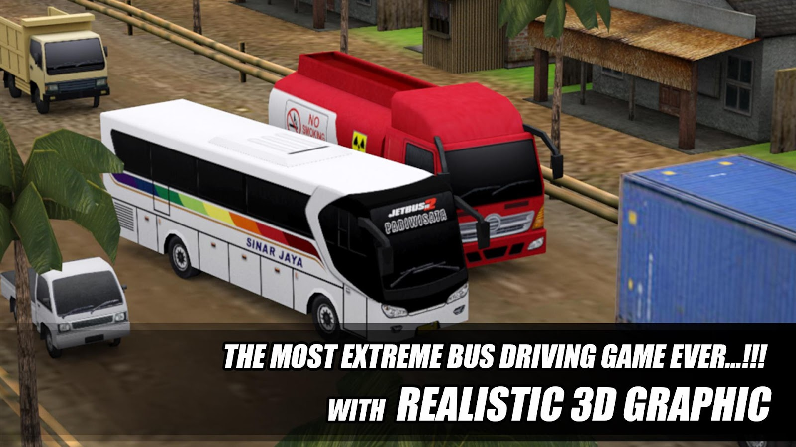 telolet bus driving 3D cheat