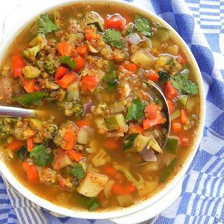 Spring Vegetable Kitchen Sink Soup