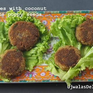 Coconut, Blue Poppy Crab Cakes