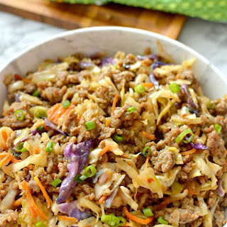 Low-Carb Easy To Make Egg Roll In A Bowl.